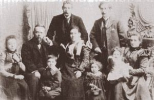 The Dunlop family about 1899