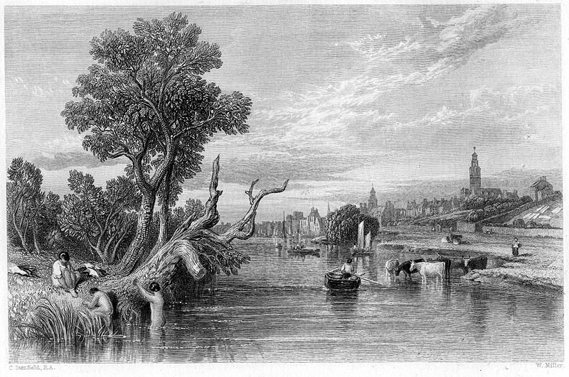 Dumfries engraving by William Miller after C Stanfield