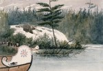 Hudson Bay Canoes at Chats falls 1838