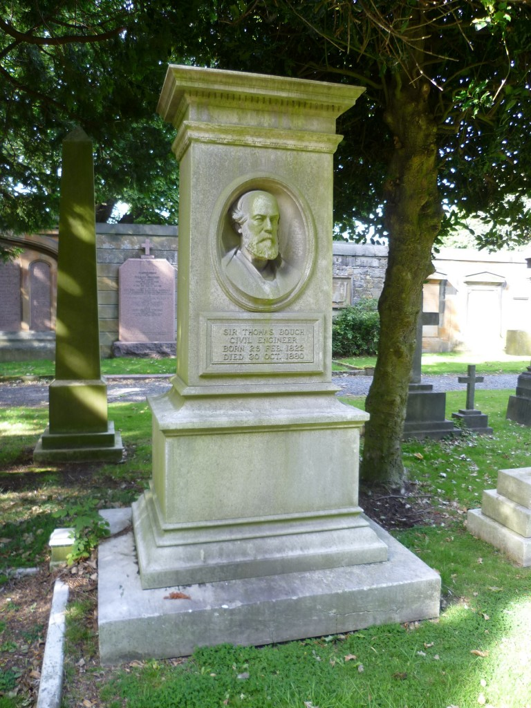 The grave of Sir Thomas Bouch in Edinburgh's Dean Cemetery (photo by Kim Traynor)