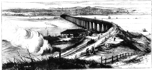 The Tay Bridge from Tayside (The Graphic, 3 January 1880)